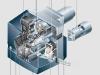 Schnittbild eines W-Brenners für Öl (WL5) mit Standard Flammkopf und einer Leistung von 16,5 bis 55 kW von Weishaupt - Abb.: Max Weishaupt GmbH