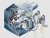 Schnittbild eines W-Brenners für Gas (WG5) mit digitalem Feuerungsmanagement mit einer Leistung von 12,5 bis 50 kW von Weishaupt - Abb.: Max Weishaupt GmbH