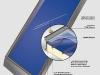 Weishaupt Solarkollektor WTS-F1 mit Beschriftung (Indach)  - Abb.: MaxWeishaupt GmbH