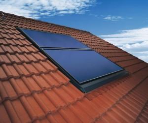 Die Weishaupt Solarkollektoren WTS-F1 (Indach) - Abb.: Max Weishaupt GmbH